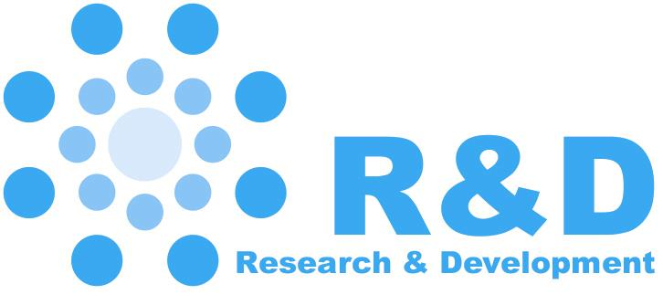 research and development R&D logo
